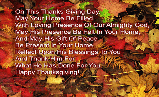 Thanksgiving Day SMS