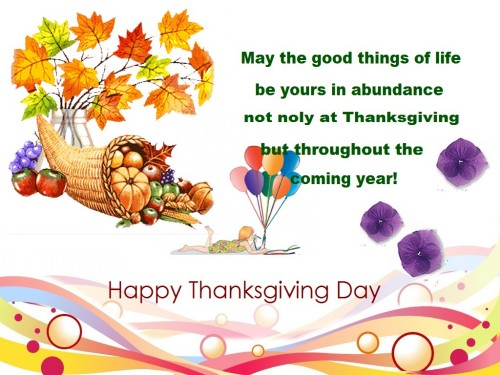 thanksgiving greeting message