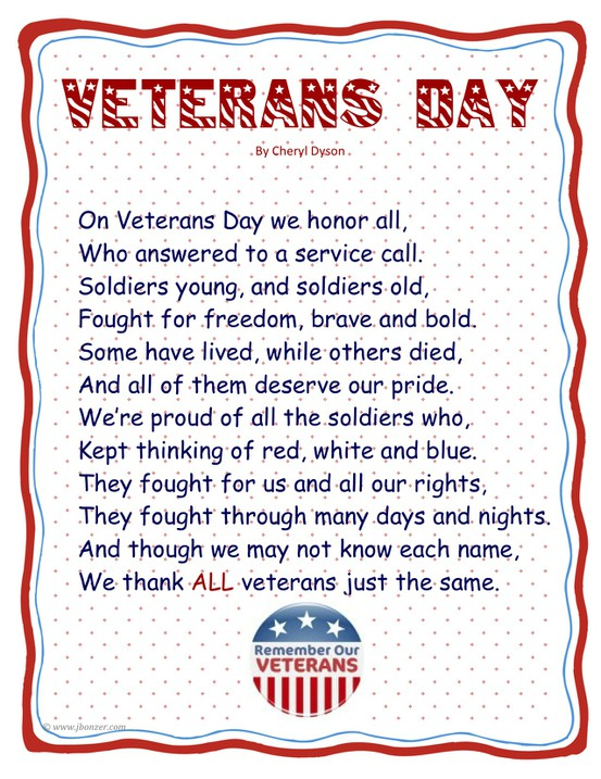 Veterans Day 2017 Poems