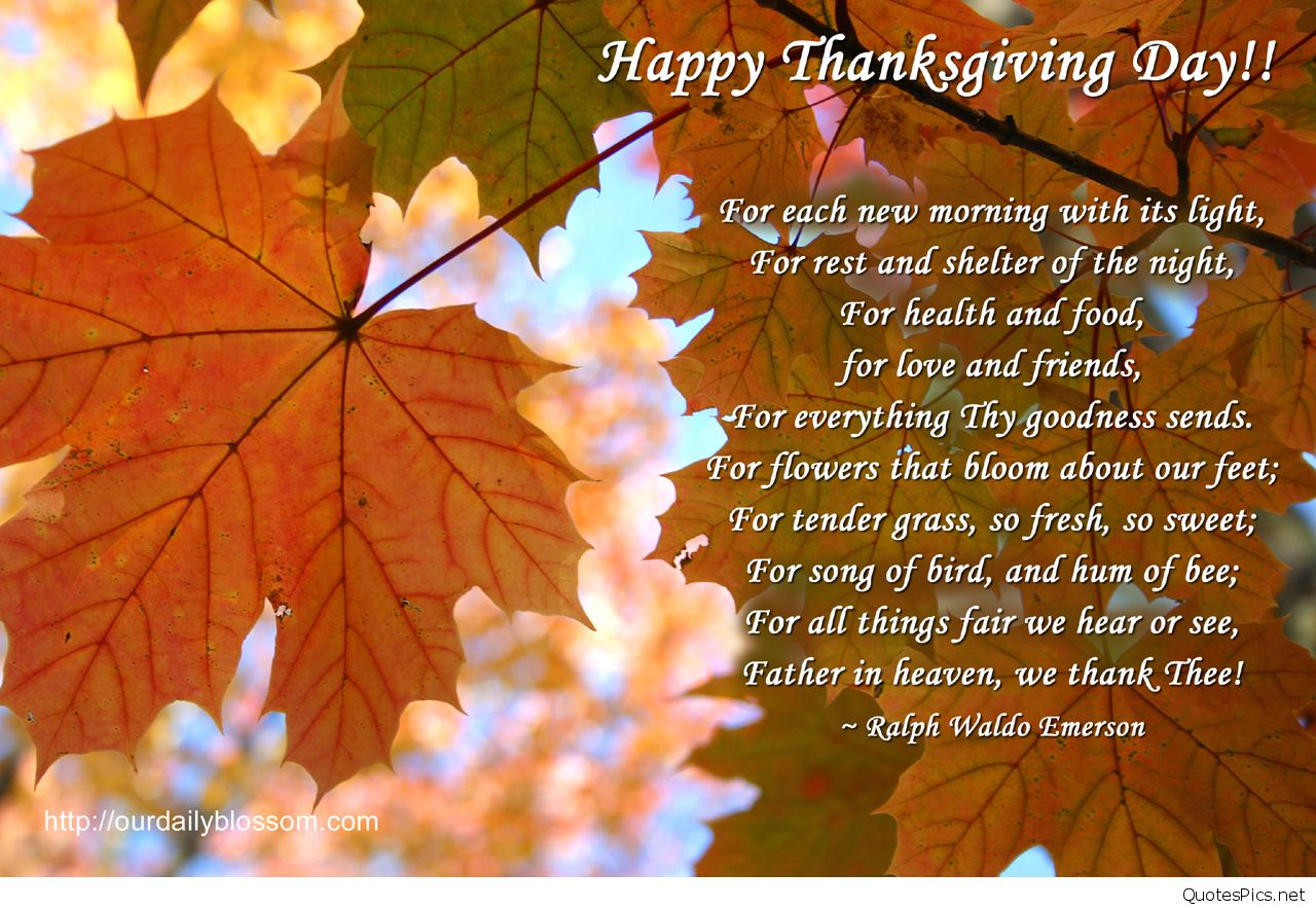Happy Thanksgiving Prayer