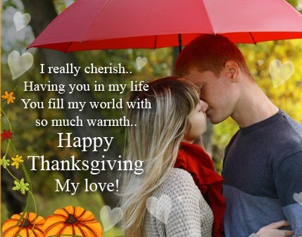 Happy Thanksgiving My Love Images