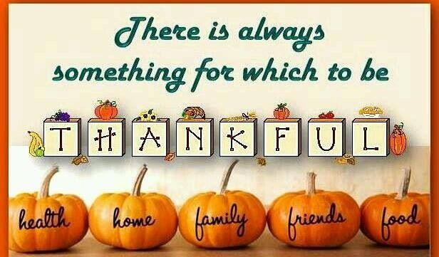 Be Thankful for Thanksgiving